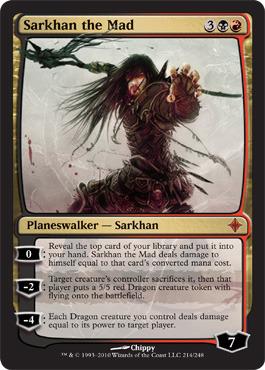 Sarkhan the Mad - Foil - Magic Singles » Zendikar Block » Rise of