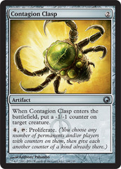 Contagion Clasp - Foil on Channel Fireball