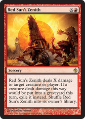 Red Suns Zenith - Foil