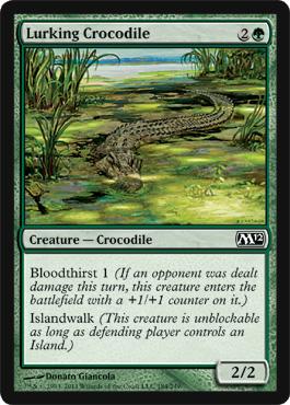 Lurking Crocodile - Foil