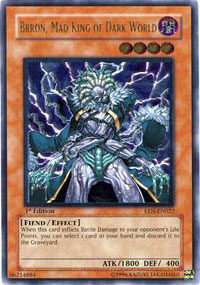 Brron, Mad King of Dark World - EEN-EN022 - Rare - Unlimited Edition