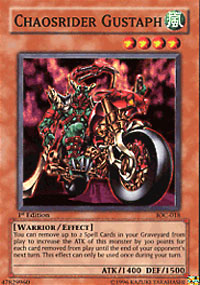 Chaosrider Gustaph - IOC-018 - Super Rare - Unlimited Edition