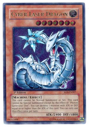 Cyber Laser Dragon - SOI-EN007 - Ultimate Rare - Unlimited Edition