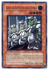Goblin Elite Attack Force - CRV-EN020 - Ultimate Rare - Unlimited Edition on Channel Fireball