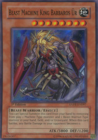 Beast Machine King Barbaros Ur - ANPR-EN097 - Super Rare - Unlimited Edition