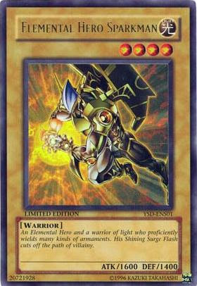 Elemental Hero Sparkman - Special Edition Promo - YSD-ENS01 - Ultra Rare - Limited Edition