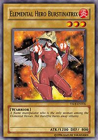Elemental Hero Burstinatrix - YSDJ-EN006 - Common - Unlimited Edition