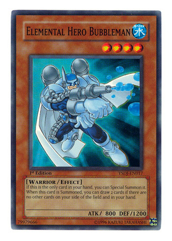 Elemental Hero Bubbleman - YSDJ-EN017 - Super Rare - Unlimited Edition