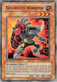 Gauntlet Warrior - DP09-EN013 - Ultra Rare - Unlimited Edition
