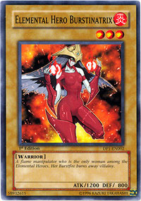 Elemental Hero Burstinatrix - DP1-EN002 - Common - Unlimited Edition