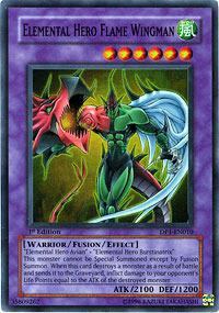 Elemental Hero Flame Wingman - DP1-EN010 - Super Rare - Unlimited Edition