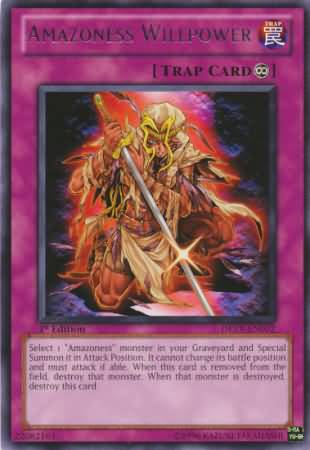 Amazoness Willpower - DREV-EN072 - Rare - Unlimited Edition