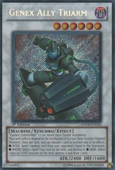 Genex Ally Triarm - HA04-EN026 - Secret Rare - Unlimited Edition