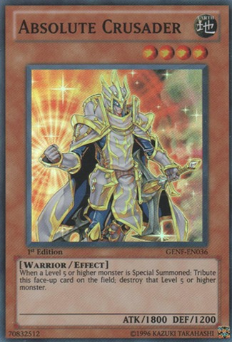 Absolute Crusader - GENF-EN036 - Super Rare - Unlimited Edition