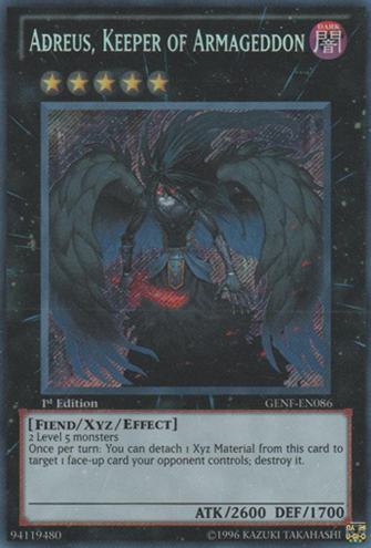 Adreus, Keeper of Armageddon - GENF-EN086 - Secret Rare - Unlimited Edition