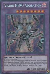 Vision HERO Adoration - GENF-EN096 - Secret Rare - Unlimited Edition ***