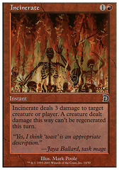 Incinerate - Foil on Channel Fireball