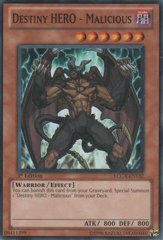 Destiny HERO - Malicious - LCGX-EN132 - Common - 1st Edition