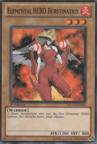 Elemental HERO Burstinatrix - LCGX-EN003 - Common - 1st Edition