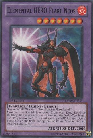 Elemental HERO Flare Neos - LCGX-EN058 - Common - 1st Edition