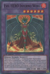 Evil HERO Inferno Wing - LCGX-EN067 - Super Rare - 1st Edition