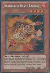 Gladiator Beast Laquari - LCGX-EN238 - Secret Rare - 1st Edition