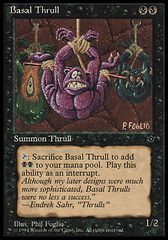 Basal Thrull (P. Foglio) on Channel Fireball