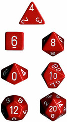 34mm Opaque d20 Red/White - XQ2004