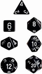 Black/White Opaque d4 - PQ0408