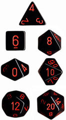 Black/Red Opaque d10 - PQ1018