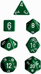 Green/White Opaque d12 - PQ1205