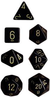 Black/Gold Opaque d10 - PQ1028