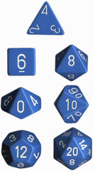 Lt. Blue/White Opaque d6 w/ #'s - PQ0616
