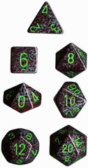 34mm Speckled d20 Earth - XS2022
