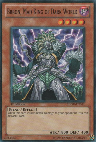 Brron, Mad King of Dark World - SDGU-EN011 - Common - 1st Edition