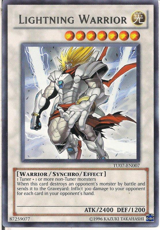 Lightning Warrior - TU07-EN007 - Rare - Unlimited Edition