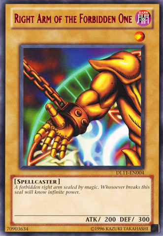 Right Arm of the Forbidden One - Red - DL11-EN004 - Rare - Unlimited Edition