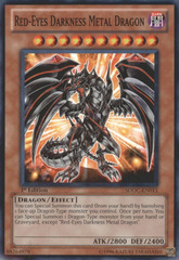 Red-Eyes Darkness Metal Dragon - SDDC-EN013 - Common - 1st Edition on Channel Fireball