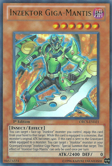 Inzektor Giga-Mantis - ORCS-EN021 - Ultra Rare - Unlimited Edition