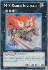 M-X-Saber Invoker - ORCS-EN099 - Secret Rare - Unlimited Edition