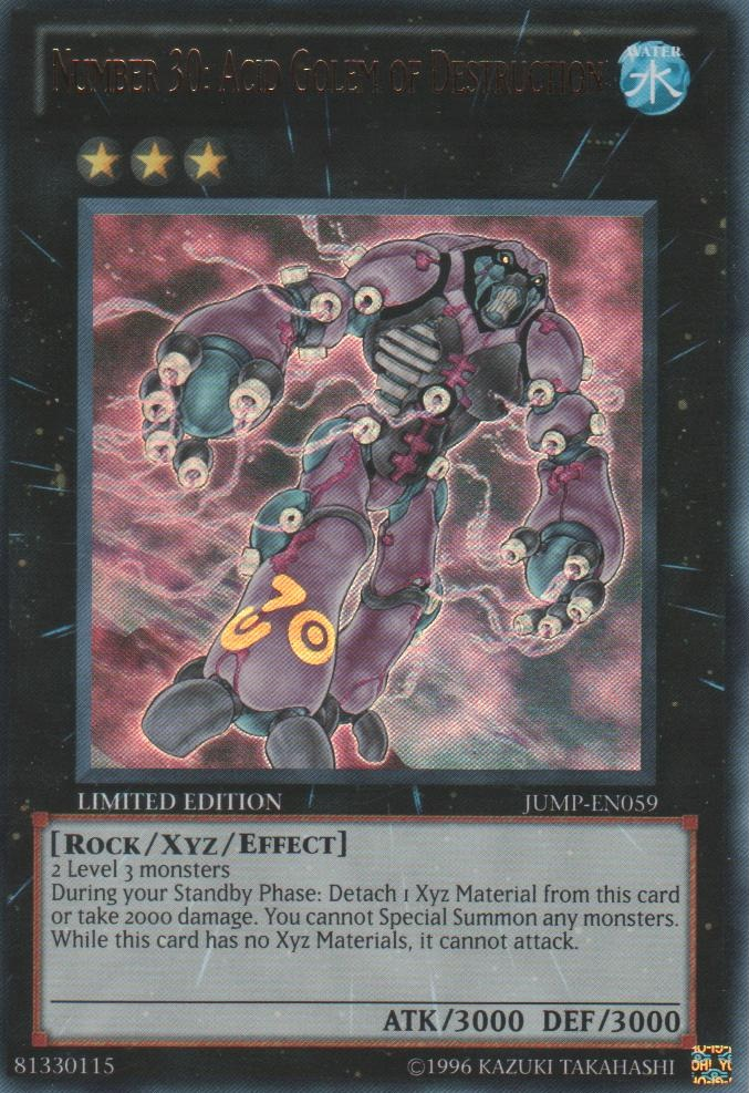 Number 30: Acid Golem of Destruction - JUMP-EN059 - Ultra Rare - Limited Edition