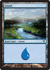 Island (235) - Foil on Channel Fireball