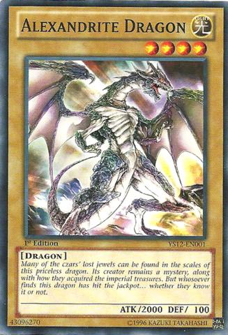 Alexandrite Dragon - YS12-EN001 - Common - 1st Edition