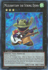 Muzurhythm the String Djinn - YS12-EN040 - Super Rare - 1st Edition on Channel Fireball