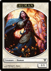 Human Token (White) on Channel Fireball