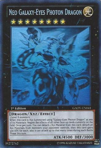 Neo Galaxy-Eyes Photon Dragon - GAOV-EN041 - Ghost Rare - 1st Edition