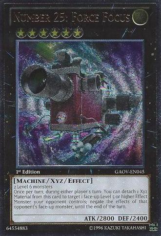 Number 25: Force Focus - GAOV-EN045 - Ultimate Rare - 1st Edition