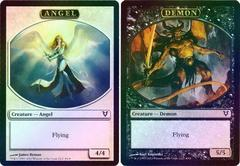 Angel/Demon Token Foil Double-Faced Helvault Promo on Channel Fireball