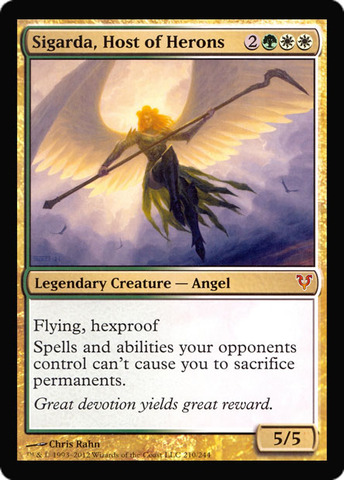 Sigarda, Host of Herons (Oversized Helvault Promo)