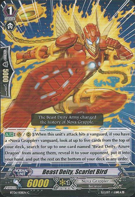 Beast Deity, Scarlet Bird - BT06/108EN - C
